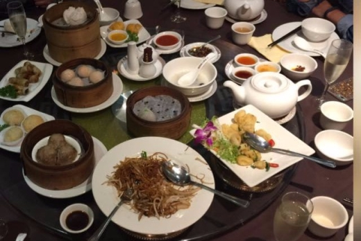 Selection of dim sum items