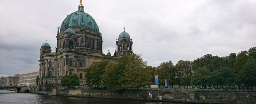 The domed Berlin cathedral church