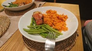 Rice, veg and chicken