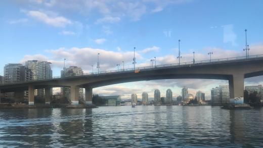 A bridge across the Vancouver Skyline